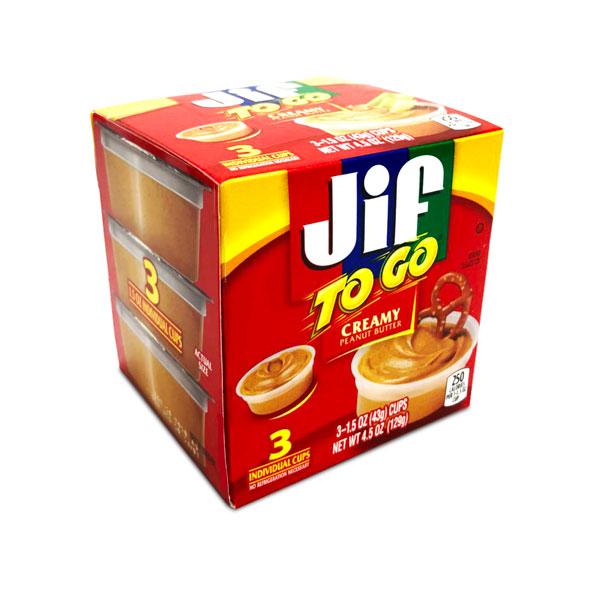 Jif ピーナッツバター TOGO クリーミー 3個入り